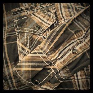 BKE Buckle Men's Urban Western Slim Fit Shirt